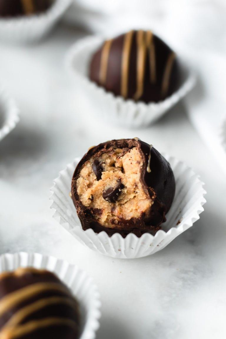 cookie dough truffles bite shot