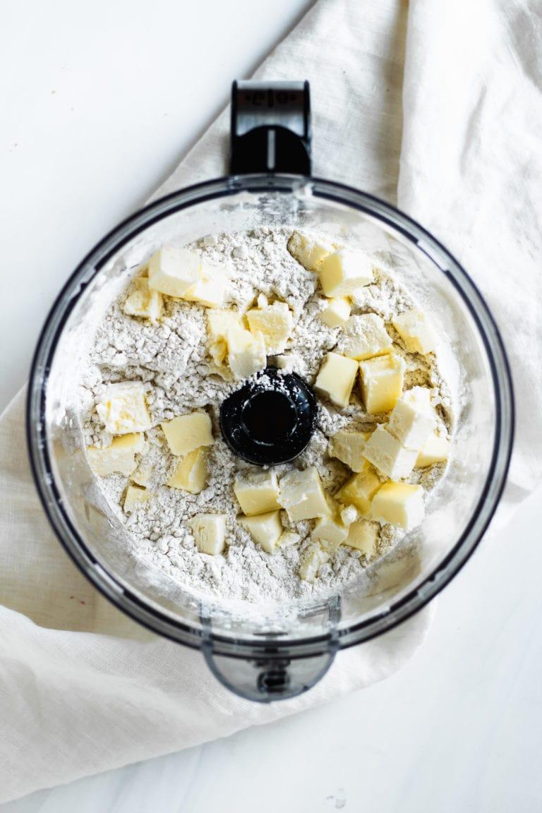 butter chunks & flour for pie crust