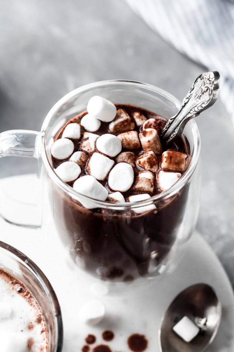 close up hot chocolate