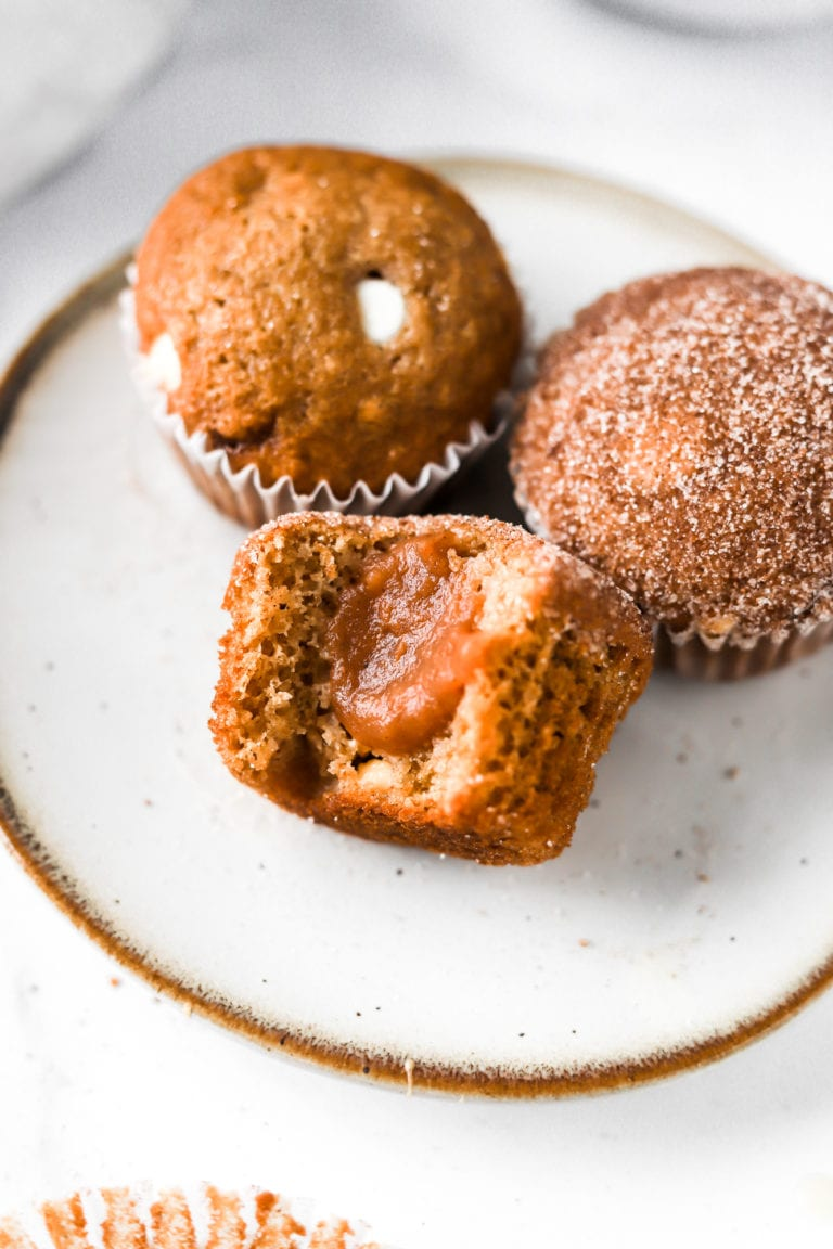 white chocolate chip apple butter muffins
