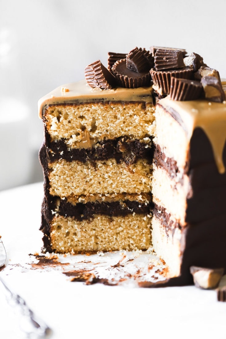 slice or reese's cake