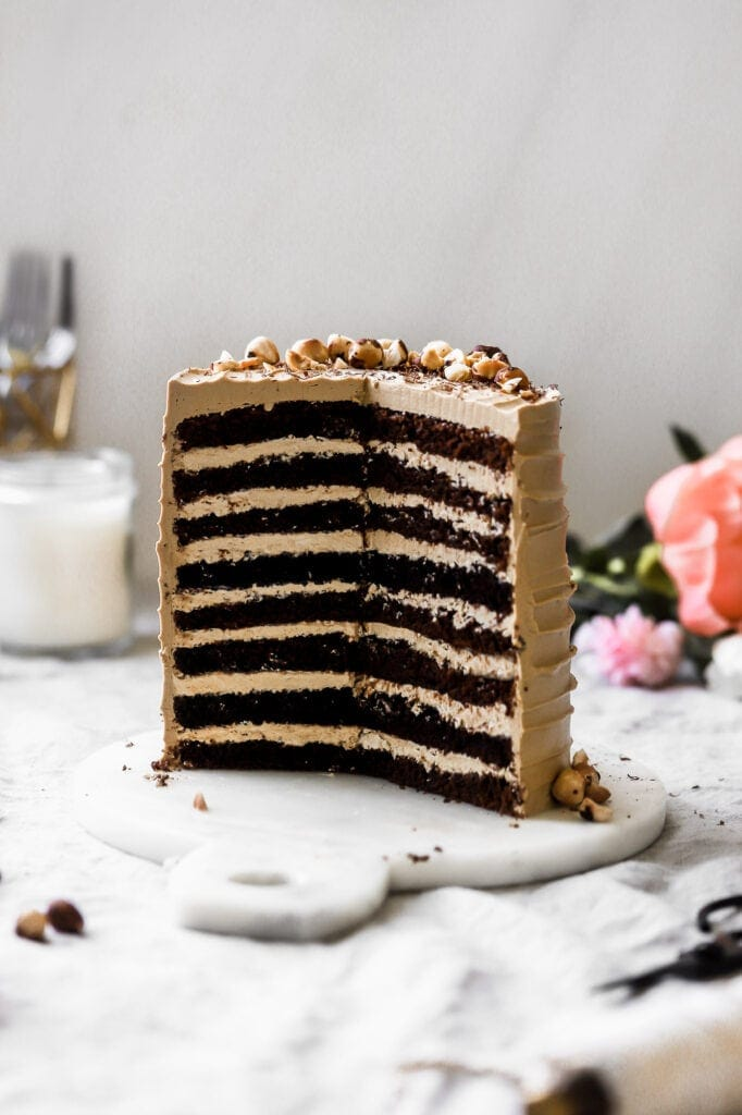 8-layer chocolate coffee cake