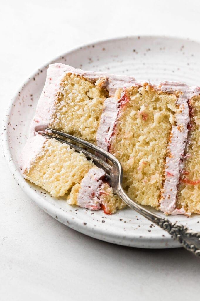 Vanilla Cake close up texture