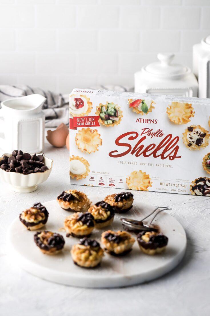 boston cream pies with athens phyllo shells