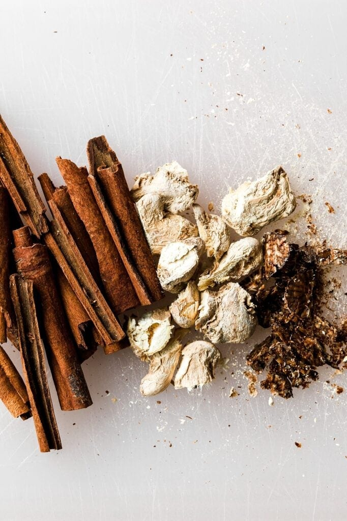 chopped spices