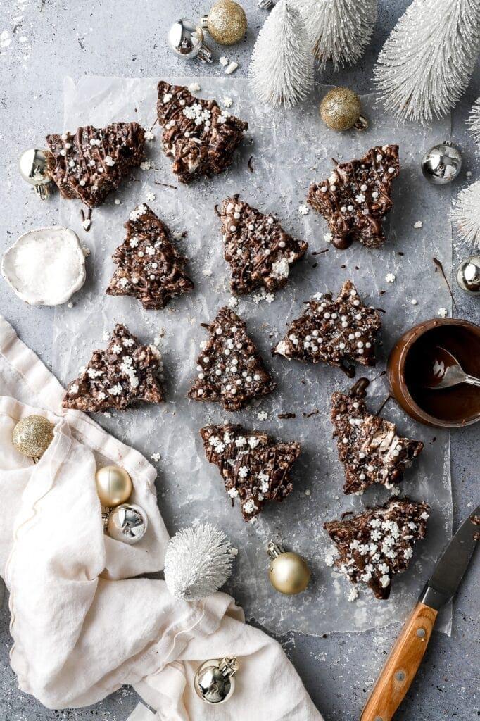 christmas rice krispie treats
