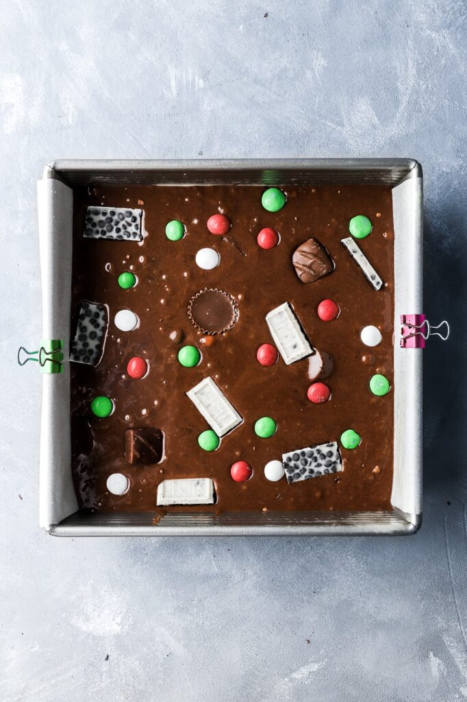 top with extra chocolate bars