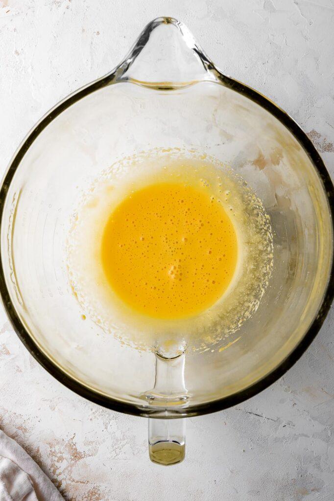 whipped egg yolks
