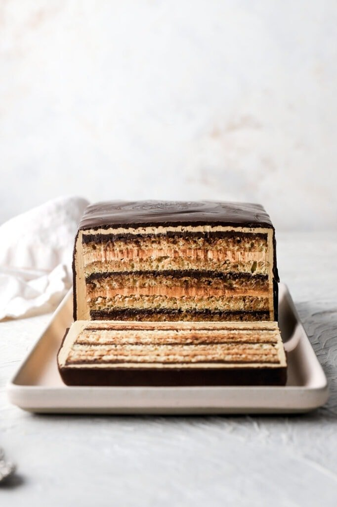 french opera cake with all the layers