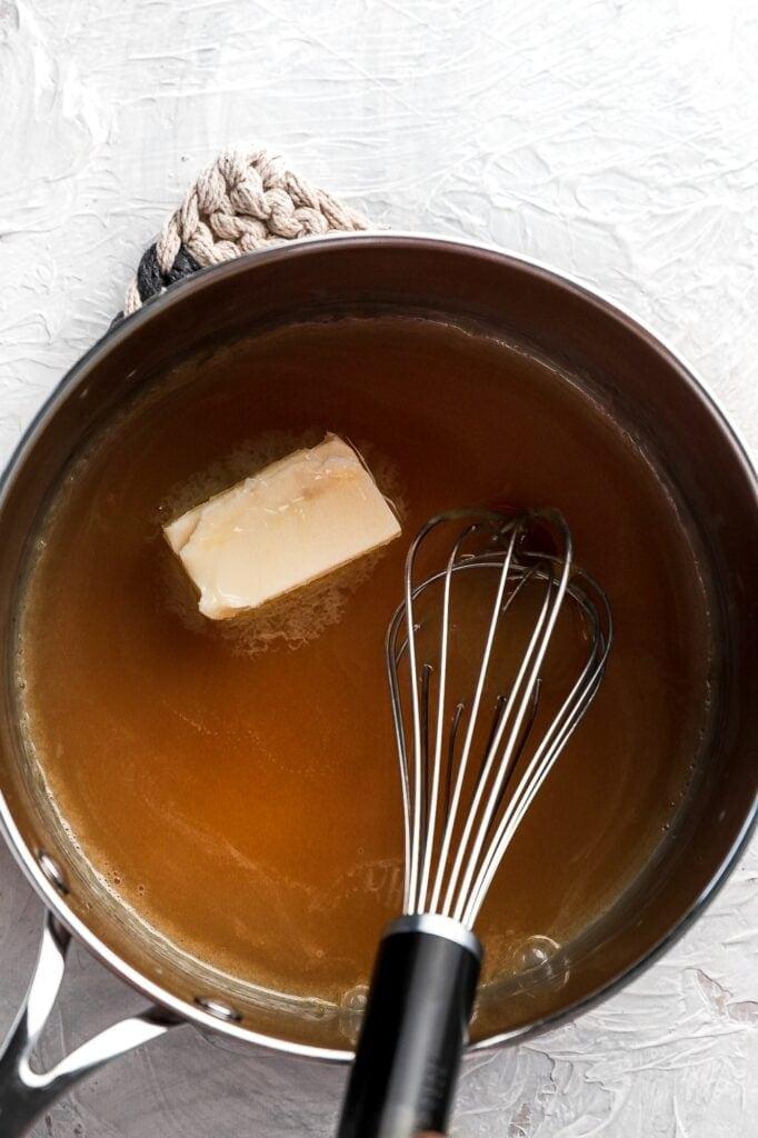 add butter to caramel
