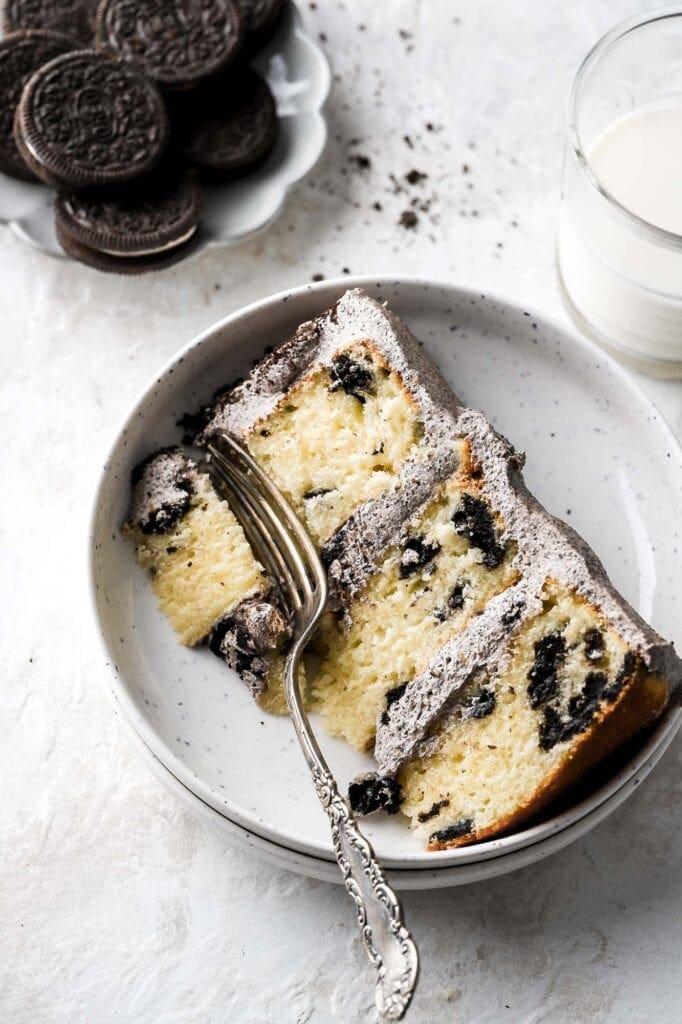 oreo cake slice