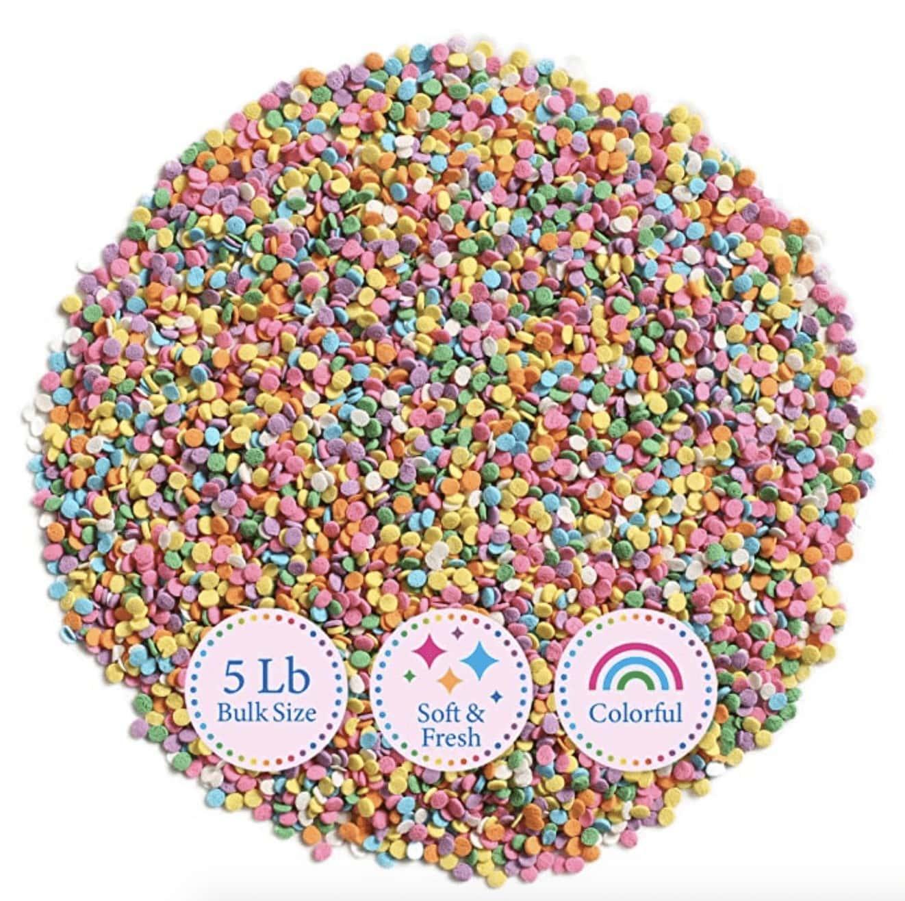 Rainbow Sequin Sprinkles