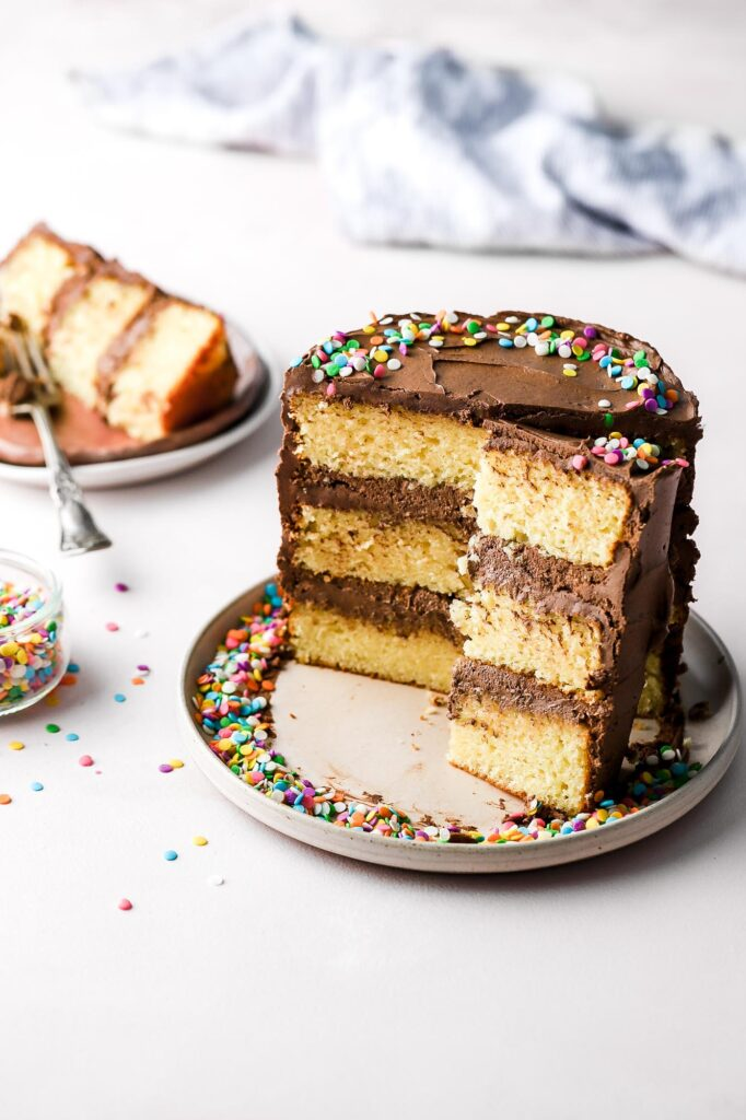 birthday cake with 2 ingredient frosting