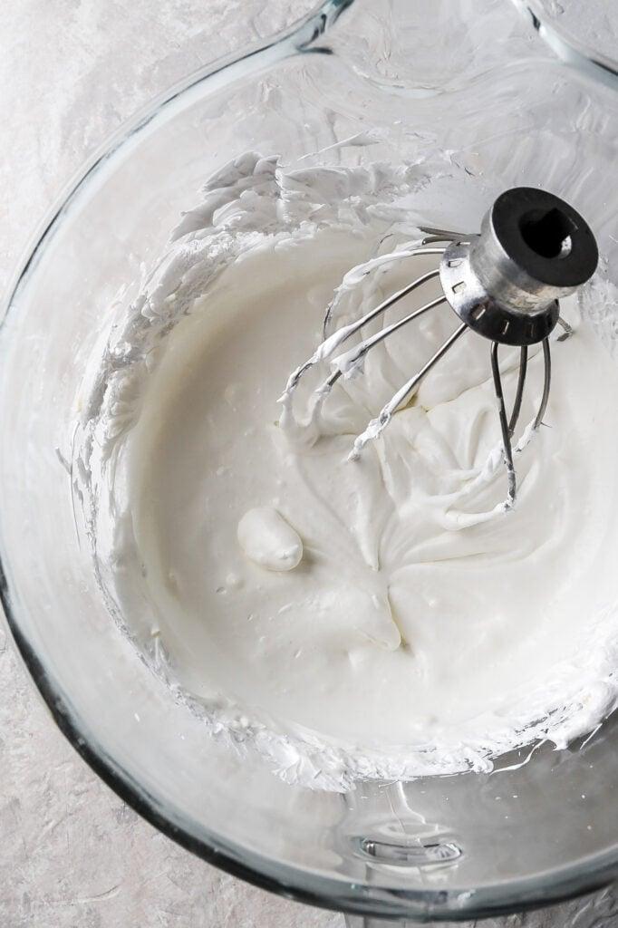 melty/runny buttercream (only half the butter added so far)