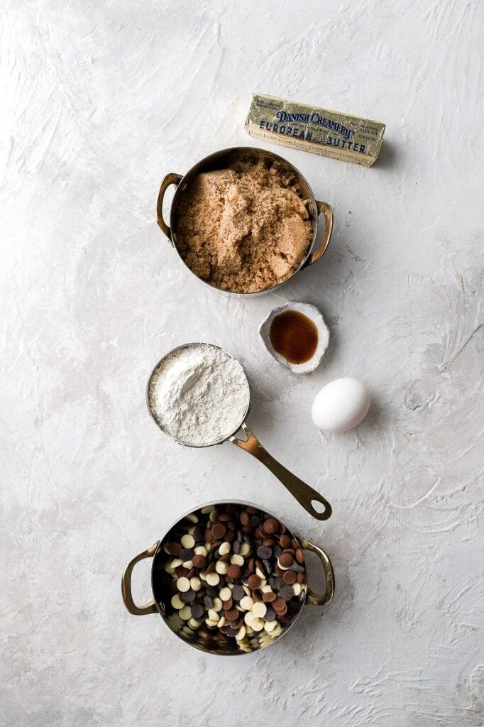 ingredients for skillet cookie